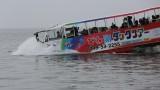 水陸バス入水